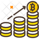 Grow Bitcoin Bitcoin Growth Bitcoin Value Up Icon