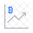 Growth Bitcoin Chart Icon