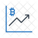 Growth Bitcoin Chart Icon