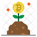 Growth Bitcoin Investment Icon