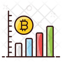 Bitcoin Growth Dynamic Bitcoin Cryptocurrency Graph Icon