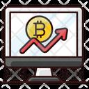 Bitcoin Growth Bitcoin Revenue Profit Icon