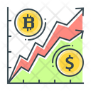 Bitcoin Chart Cryptocurrency Icon