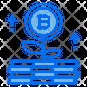 Growth Bitcoin Icon