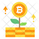 Growth Bitcoin Icon