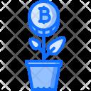 Plant Bitcoin Coin Icon
