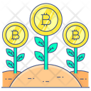 Money Growth Bitcoin Growth Business Growth Icon
