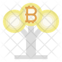 Bitcoin Growth Investment Grow Icon