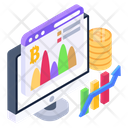 Business Growth Bitcoin Growth Business Analytics Icon