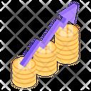 Financial Growth Financial Analytics Bitcoin Analytics Icon
