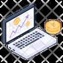 Bitcoin Online Analytics Bitcoin Growth Bitcoin Business Icon