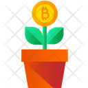 Bitcoin Growth Bitcoin Plant Crypto Plant Icon