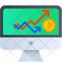 Bitcoin Growth Cryptocurrency Graph Cryptocurrency Icon