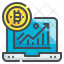 Graph Trend Statistics Growth Arrow Bitcoin Rate Icon