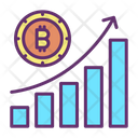 Reoprt Chart Bitcoin Growth Graph Bitcoin Analysis Icon