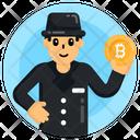 Bitcoin Criminal Bitcoin Hacker Anonymous Icon
