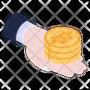 Bitcoin Reduction Bitcoin Halving Bitcoin Dividing Icon