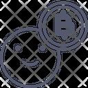 Bitcoin Happy Icon
