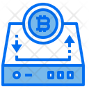 Harddrive Bitcoin Icon