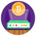 Business Hologram Augmented Reality Bitcoin Hologram Icon