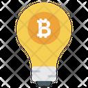 Bitcoin Idea Bitcoin Innovation Creative Bitcoin Icon