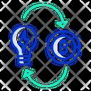 Idea Bitcoin Bitcoin Idea Creative Bitcoin Idea Icon