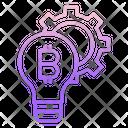 Electronic Cash Idea Bitcoin Idea Bitcoin Bulb Icon