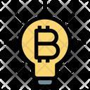 Bitcoin Idea Light Idea Icon