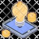 Blockchain Innovation Blockchain Idea Btc Idea Icon