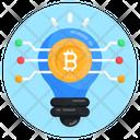 Bitcoin Idea Creative Bitcoin Blockchain Idea Icon