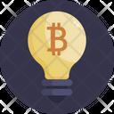 Bitcoin Bulb Light Icon