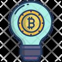 Bitcoin Idea Bitcoin Creative Bitcoin Idea Icon