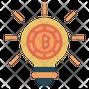 Bitcoin Idea Concept Light Icon