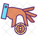 Bitcoin In Hand Icon