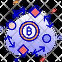 Bitcoin In Process Bitcoin Mining Bitcoin Transaction Icon