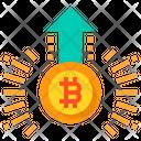 Bitcoin Increase Value Icon