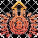 Bitcoin Increase Value Bitcoin Increase Icon