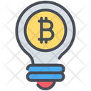 Bitcoin Bulb Cryptocurrency Icon