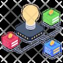 Blockchain Innovation Blockchain Idea Bitcoin Innovation Icon