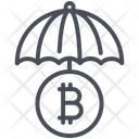 Bitcoin And Umbrella Bitcoin Insurance Bitcoin Security Icon