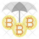 Bitcoin Insurance Protection Bitcoin Investment Icon