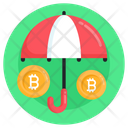 Bitcoin Insurance Bitcoin Protection Business Insurance Icon