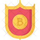 Shield Protection Bitcoin Icon