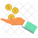 Investment Bitcoin Hand Icon