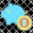 Piggy Bank Bitcoin Bitcoin Investment Bitcoin Piggy Bank Icon