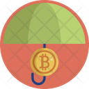 Bitcoin Umbrella Cryptocurrency Icon