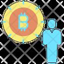 Business Bitcoin Investor Broker Icon