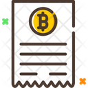 Bitcoin Invoice Icon