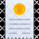 Bitcoin Invoice Icon