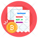 Bitcoin Payment Slip Bitcoin Invoice Bitcoin Receipt Icon